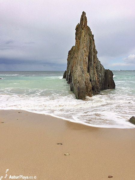 Mexota Beach Rock Asturias Spain