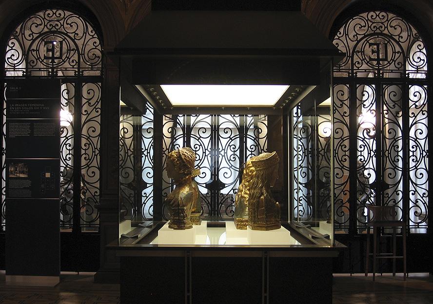 Bustos relicarios y Sala de Armas en el Museo Lázaro