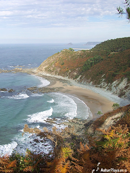 Las Llanas Beach Asturias Seen From Above